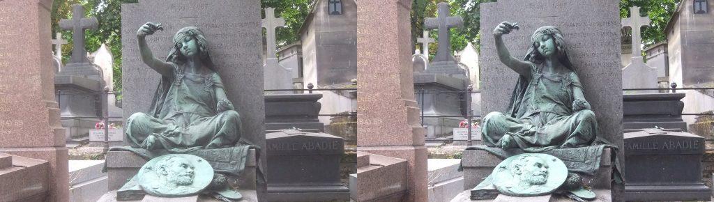 Gustave Guillaumet's Tomb in Montmartre Cemetery in Paris